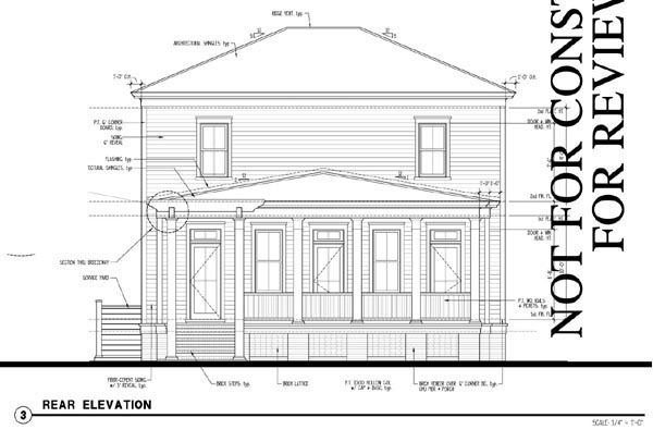 Historic, Southern House Plan 73717 with 4 Beds, 4 Baths, 1 Car Garage Rear Elevation