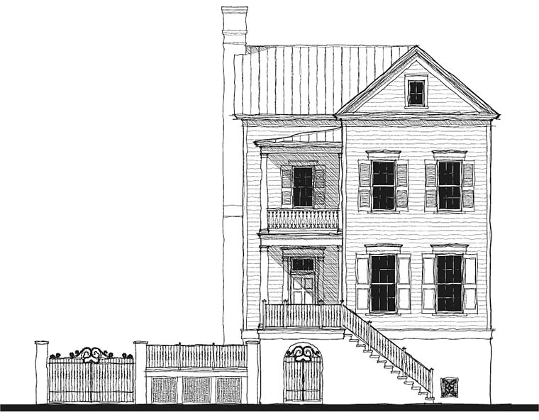 Historic, Southern House Plan 73725 with 4 Beds, 4 Baths Picture 1