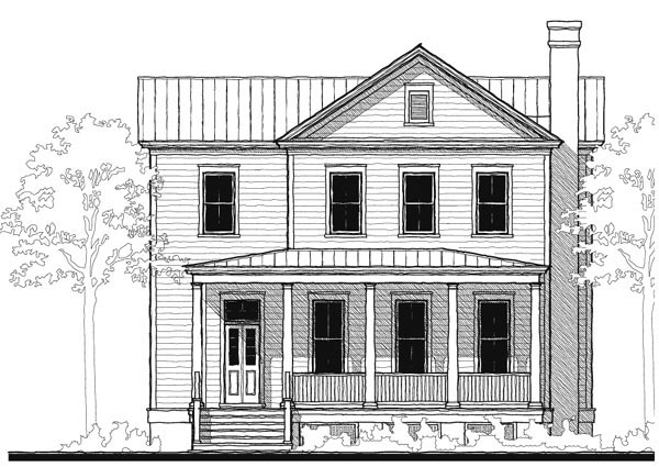 Historic, Southern House Plan 73734 with 4 Beds, 4 Baths Elevation