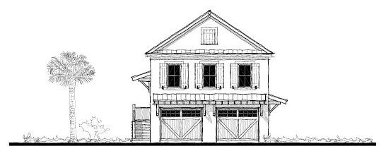Historic 2 Car Garage Apartment Plan 73751 with 2 Beds, 2 Baths Front Elevation