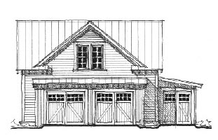 Historic 2 Car Garage Plan 73758 Front Elevation