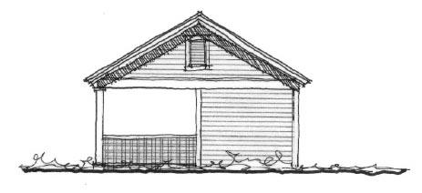 Historic 2 Car Garage Plan 73775 Front Elevation