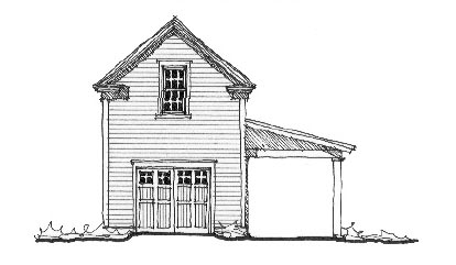 Historic 2 Car Garage Plan 73779 with 1 Beds, 1 Baths Front Elevation