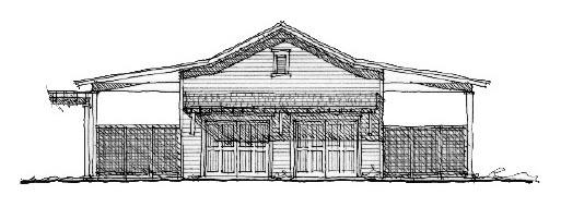 Historic 4 Car Garage Plan 73807 Elevation