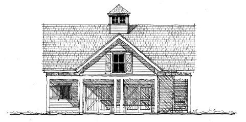 Historic 2 Car Garage Apartment Plan 73823 with 1 Beds, 1 Baths Front Elevation
