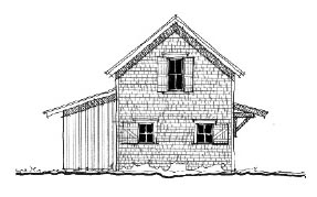 Historic 2 Car Garage Plan 73824 Elevation