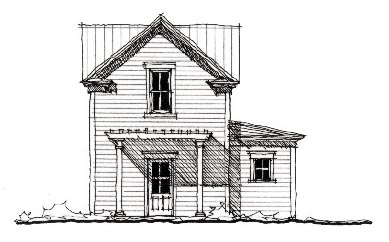 Historic 2 Car Garage Plan 73826 Elevation