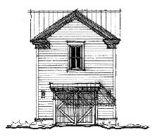 Historic 1 Car Garage Apartment Plan 73828 with 1 Beds, 1 Baths Front Elevation