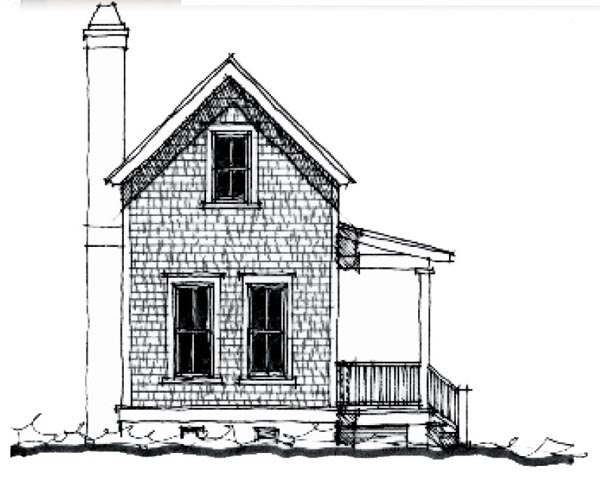 Country, Historic House Plan 73846 with 2 Beds, 2 Baths Elevation