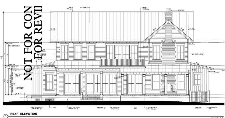 Country, Historic House Plan 73864 with 5 Beds, 6 Baths Rear Elevation