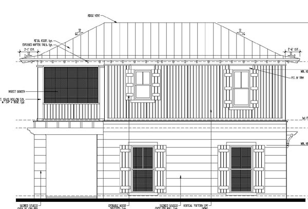Country, Historic House Plan 73881 with 2 Beds, 1 Baths, 2 Car Garage Picture 2