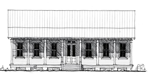 Country, Historic House Plan 73886 with 3 Beds, 2 Baths Front Elevation