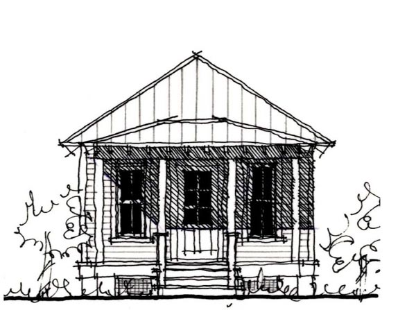 Country, Historic House Plan 73903 Front Elevation