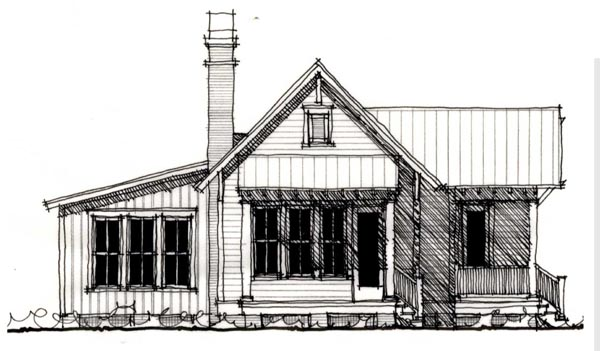 Country, Historic House Plan 73909 with 1 Beds, 1 Baths Front Elevation