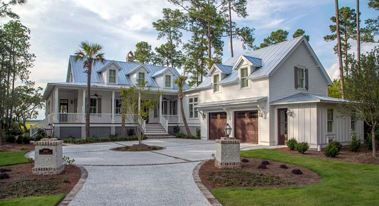 Country, Southern House Plan 73927 with 3 Beds, 4 Baths, 2 Car Garage Elevation