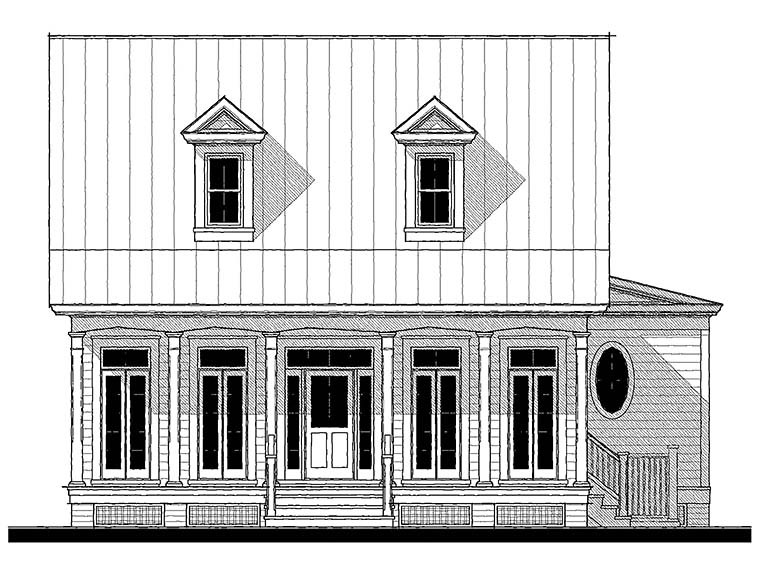 Country, Southern House Plan 73941 with 4 Beds, 3 Baths Front Elevation