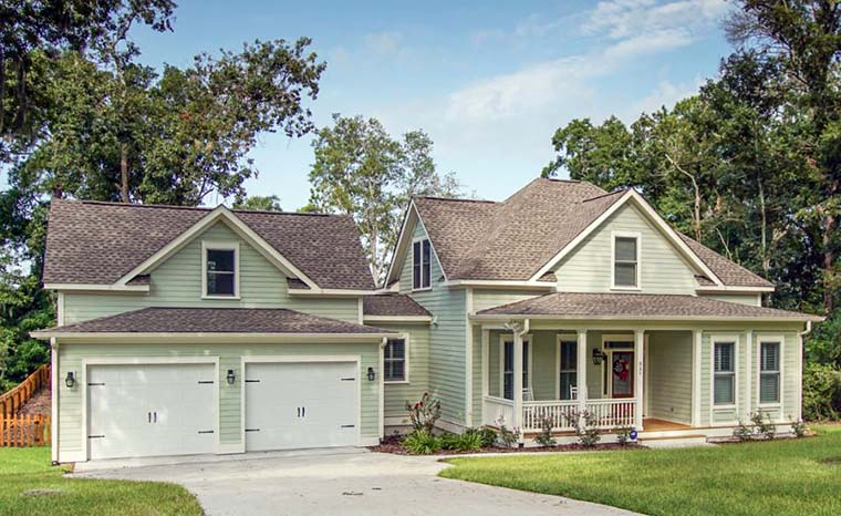Country, Southern, Traditional House Plan 73944 with 4 Beds, 3 Baths, 2 Car Garage Picture 2