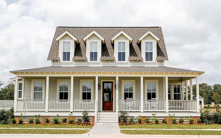 Country, Farmhouse, Southern House Plan 73946 with 3 Beds, 4 Baths Front Elevation