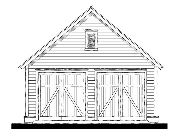 Cottage, Traditional 2 Car Garage Plan 73951 Front Elevation