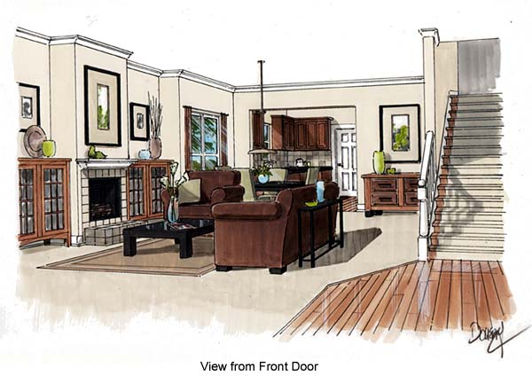 Traditional House Plan 74002 with 3 Beds, 2 Baths Picture 1