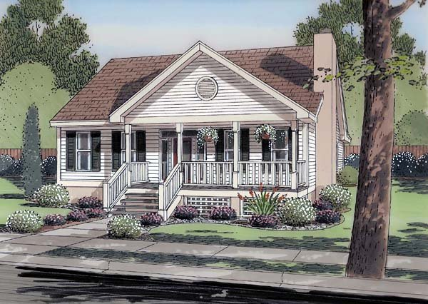 Country, Ranch, Traditional House Plan 74003 with 3 Beds, 2 Baths Elevation