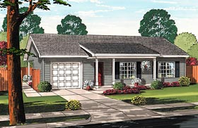 Plan Number 74017 - 972 Square Feet