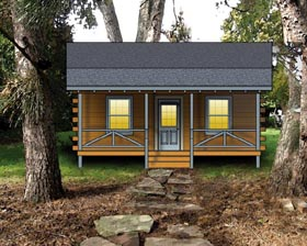Plan Number 74107 - 443 Square Feet