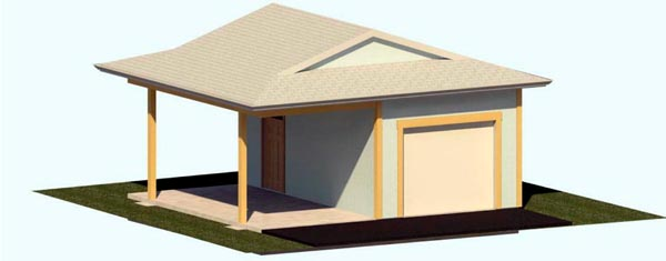 2 Car Garage Plan 74301 Elevation