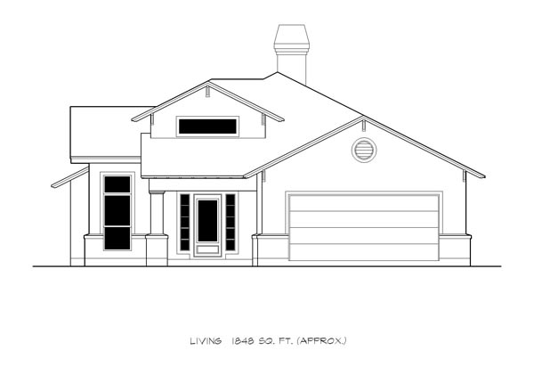 Cottage, Country, Craftsman House Plan 74504 with 3 Beds, 2 Baths, 2 Car Garage Picture 2