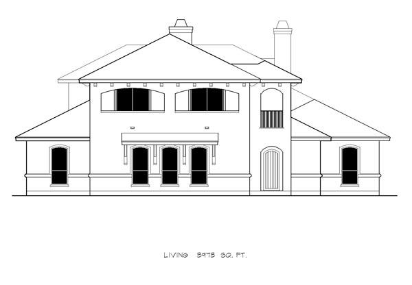 Mediterranean House Plan 74505 with 4 Beds, 5 Baths, 3 Car Garage Picture 2