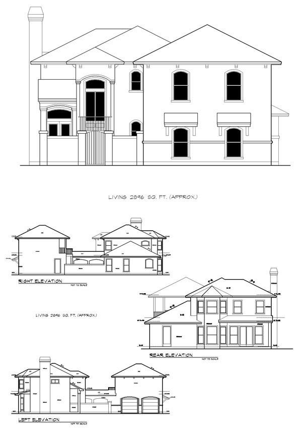 Mediterranean House Plan 74506 with 4 Beds, 5 Baths, 2 Car Garage Picture 1