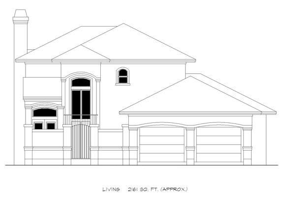 Mediterranean House Plan 74507 with 4 Beds, 4 Baths, 2 Car Garage Picture 2
