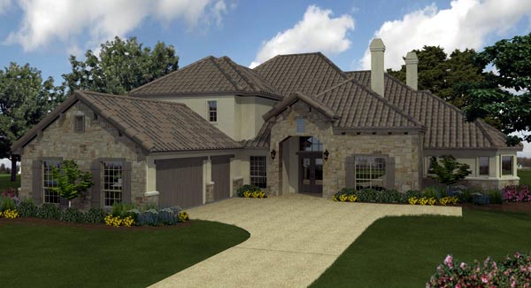 European, Mediterranean House Plan 74510 with 5 Beds, 6 Baths, 3 Car Garage Elevation