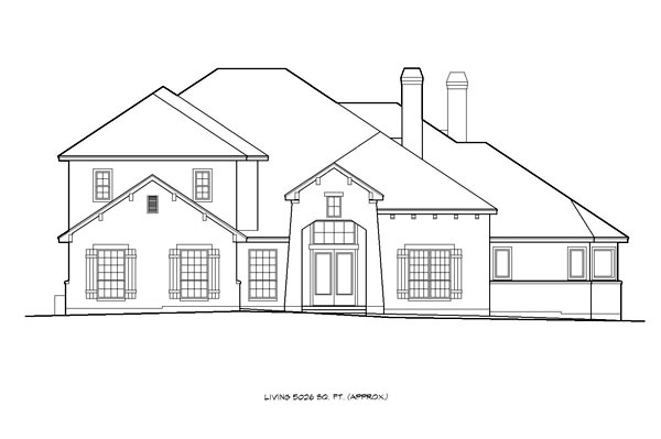 European, Mediterranean House Plan 74510 with 5 Beds, 6 Baths, 3 Car Garage Picture 2