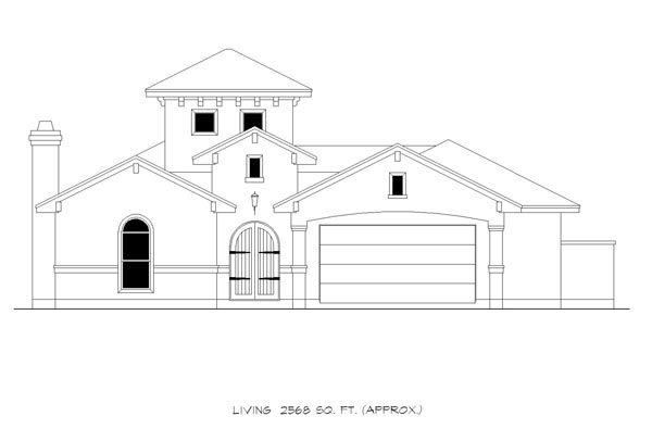 Mediterranean House Plan 74534 with 3 Beds, 4 Baths, 2 Car Garage Picture 2