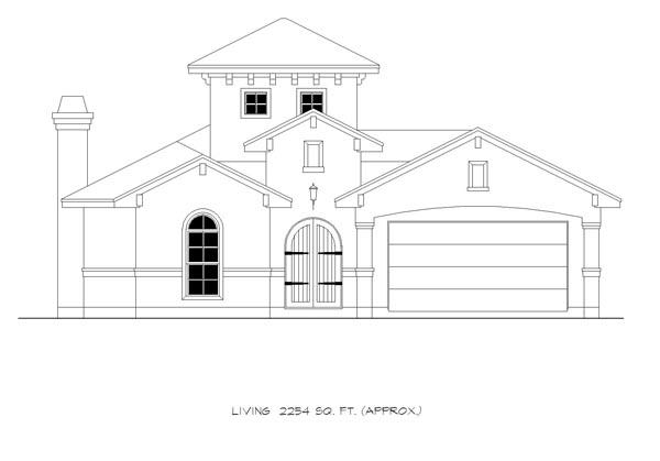 Mediterranean House Plan 74535 with 4 Beds, 4 Baths, 2 Car Garage Picture 2