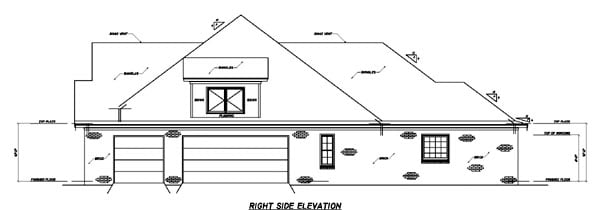 European House Plan 74608 with 3 Beds, 4 Baths, 3 Car Garage Picture 2