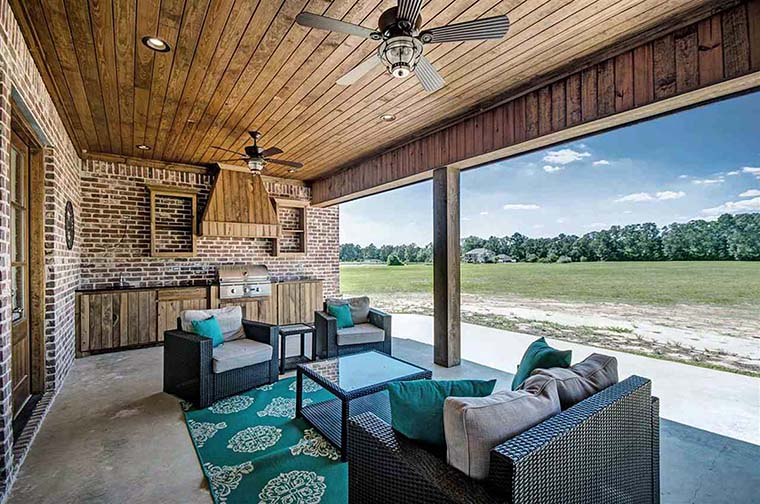 Country, Farmhouse, French Country House Plan 74635 with 5 Beds, 4 Baths, 3 Car Garage Picture 5