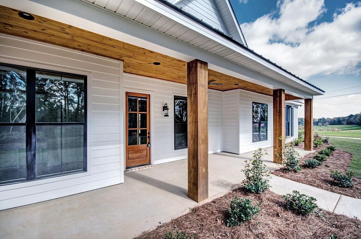 Craftsman, Farmhouse, Traditional House Plan 74637 with 4 Beds, 3 Baths, 2 Car Garage Rear Elevation