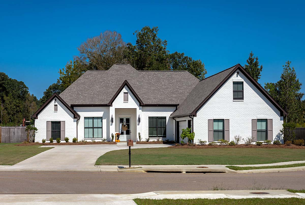 European, French Country House Plan 74640 with 4 Beds, 3 Baths, 3 Car Garage Front Elevation