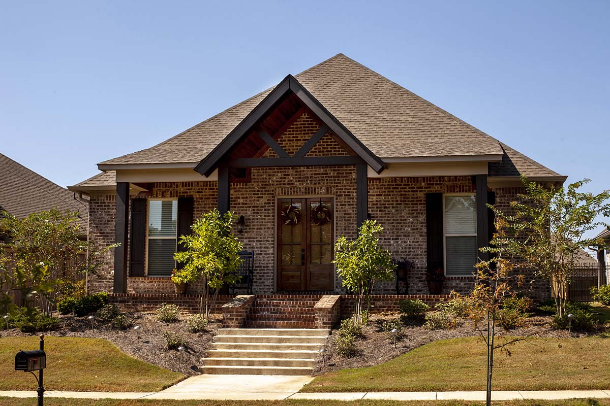 Craftsman, Traditional House Plan 74655 with 4 Beds, 3 Baths, 2 Car Garage Elevation