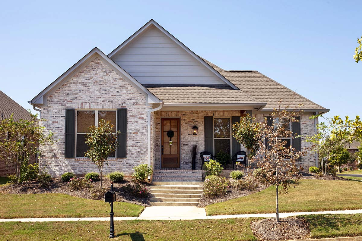 Craftsman, Traditional House Plan 74657 with 3 Beds, 3 Baths, 2 Car Garage Elevation