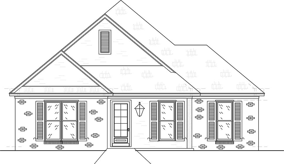 Craftsman, Traditional House Plan 74657 with 3 Beds, 3 Baths, 2 Car Garage Picture 3