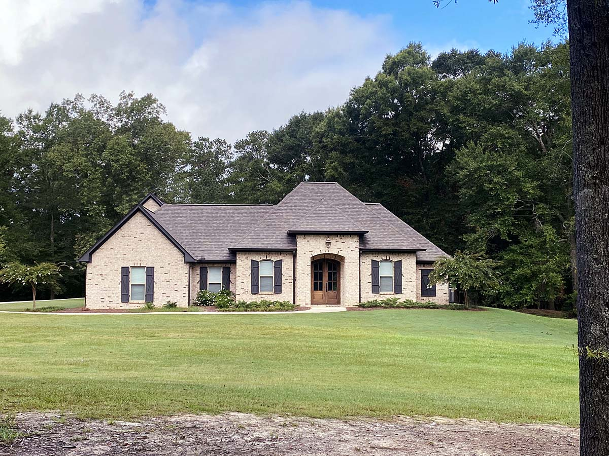 French Country, Traditional House Plan 74660 with 3 Beds, 2 Baths, 2 Car Garage Elevation