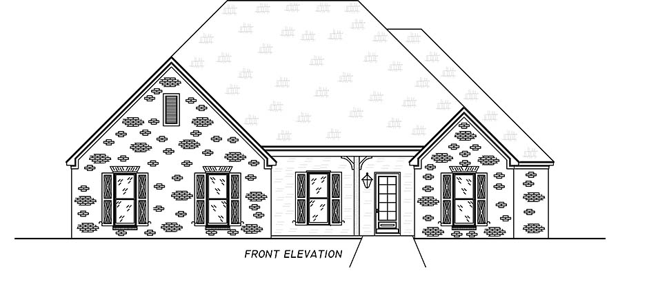 French Country, Traditional House Plan 74661 with 4 Beds, 3 Baths, 2 Car Garage Picture 3