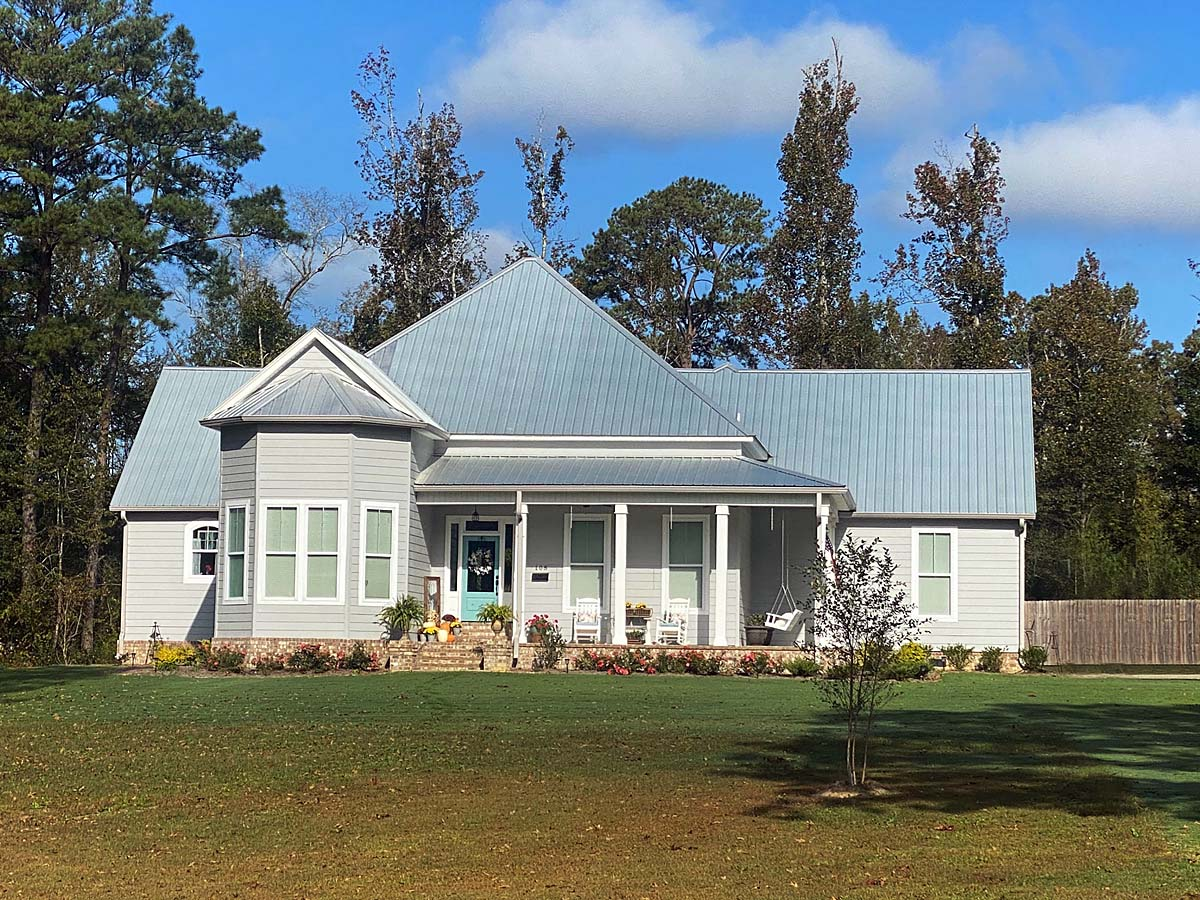 Country, Farmhouse, Traditional House Plan 74667 with 3 Beds, 4 Baths, 2 Car Garage Elevation
