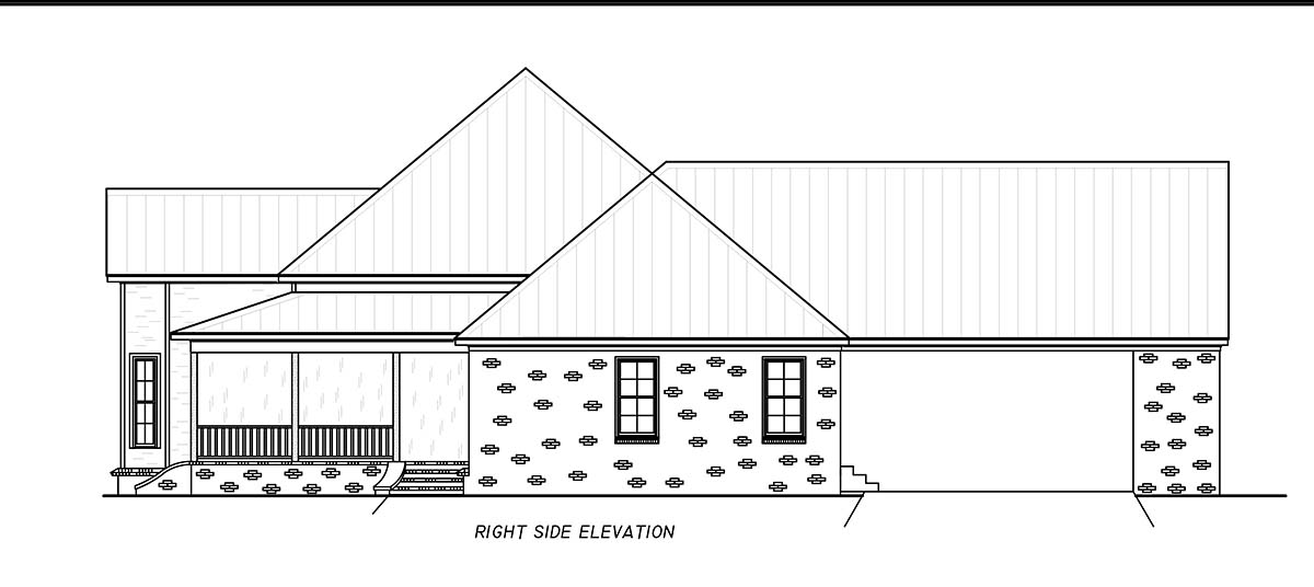 Country, Farmhouse, Traditional House Plan 74667 with 3 Beds, 4 Baths, 2 Car Garage Picture 1