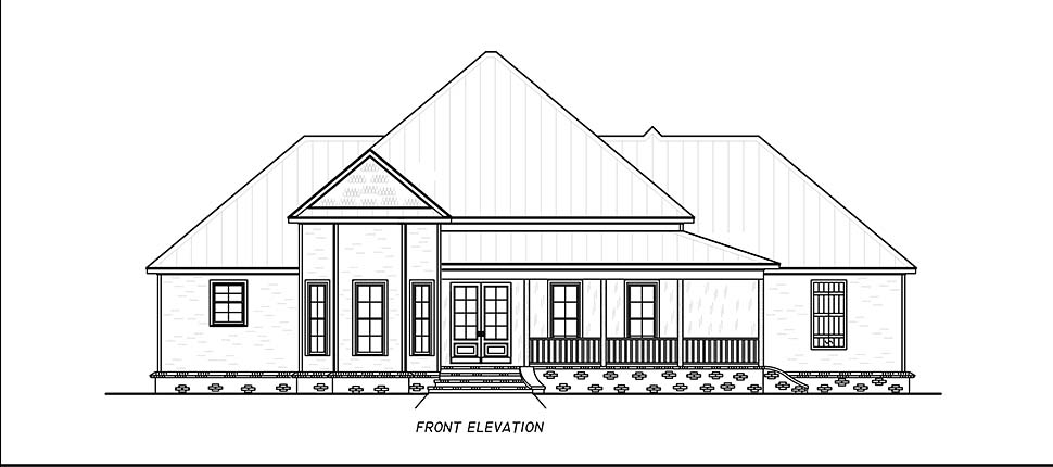 Country, Farmhouse, Traditional House Plan 74667 with 3 Beds, 4 Baths, 2 Car Garage Picture 3