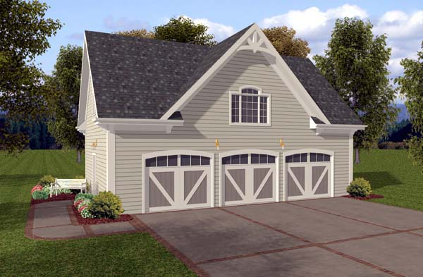 3 Car Garage Plan 74802 Front Elevation