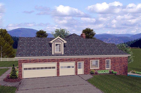 Traditional House Plan 74806 with 4 Beds, 3 Baths, 3 Car Garage Picture 1